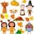 thanksgiving icon set stock photo © dazdraperma