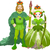 rei · rainha · ilustração · casal · escolhido · mulher - foto stock © dazdraperma