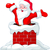 santa claus jumping from chimney stock photo © dazdraperma