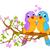 aves · ramo · primavera · natureza · coração - foto stock © dazdraperma