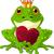rajz · béka · herceg · szeretet · szív · tündérmese - stock fotó © dazdraperma