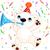 grappig · cute · ijsbeer · vector · eps · 10 - stockfoto © dazdraperma