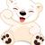 jegesmedve · medvebocs · aranyos · áll · hó · fedett - stock fotó © dazdraperma