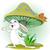 счастливым · Cartoon · гриб · лице · говорить · ретро - Сток-фото © dazdraperma