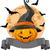 karikatür · cadılar · bayramı · kabak · stil · vektör - stok fotoğraf © dazdraperma
