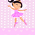 aranyos · kicsi · hercegnő · rózsaszín · ruha · tiara - stock fotó © dazdraperma