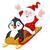 santa claus and penguin stock photo © dazdraperma