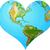 aarde · wereldbol · hart · patroon · vector · halftoon - stockfoto © dazdraperma