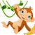 majom · banán · aranyos · szőlő · kéz · fa - stock fotó © dazdraperma