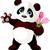 happy panda stock photo © dazdraperma