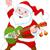 kerstman · hoed · baard · logo · witte · ontwerp - stockfoto © dazdraperma