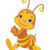 running cute bee stock photo © dazdraperma