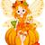 秋 · 妖精 · カボチャ · エルフ · 座って · 自然 - ストックフォト © dazdraperma