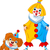 grappig · clown · ballonnen · partij · leuk - stockfoto © dazdraperma