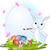 cute · vacaciones · huevos · de · Pascua · pequeño · Conejo · de · Pascua - foto stock © dazdraperma