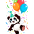 panda · cartoon · glimlach · gelukkig · natuur · dansen - stockfoto © dazdraperma