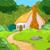 cartoon forest cabin stock photo © dazdraperma