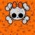 cute halloween skull with bow stock photo © dazdraperma