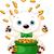 polar bear juggles gold coins stock photo © dazdraperma