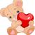 несут · сердце · иллюстрация · Cute · мало · мишка - Сток-фото © dazdraperma