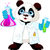 cute · panda · dessin · photos · illustration · école - photo stock © dazdraperma