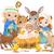 doğum · mesih · kararlı · çiftlik · hayvanları · gökyüzü · aile - stok fotoğraf © dazdraperma