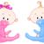 sevimli · bebek · erkek · karikatür · oturma · emzik - stok fotoğraf © dazdraperma