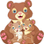 cartoon · ilustracja · grizzly · bear · cute · brązowy · szczęśliwy - zdjęcia stock © dazdraperma
