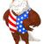 vaderlandslievend · amerikaanse · adelaar · vlag · illustratie · kaart - stockfoto © dazdraperma