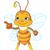 cute · bee · tonen · illustratie · vriendelijk · vliegen - stockfoto © dazdraperma