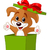puppy jumping out from a box stock photo © dazdraperma