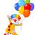 cartoon · clown · ballonnen · gelukkig · bos · partij - stockfoto © dazdraperma