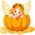 ősz · tündér · sütőtök · manó · ül · természet - stock fotó © dazdraperma