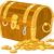 monedas · dorado · negocios · metal - foto stock © dazdraperma