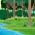 熱帯 · 森林 · 風景 · 緑 · 木 · 葉 - ストックフォト © ddraw