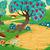 fruto · árvores · ilustração · conjunto · quatro · diferente - foto stock © ddraw