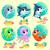 engraçado · marinha · animais · mar · desenho · animado · água - foto stock © ddraw