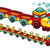 grappig · trein · cartoon · vector · geïsoleerd · karakter - stockfoto © ddraw