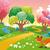 grappig · platteland · landschap · plantaardige · tuin · cartoon - stockfoto © ddraw