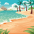 cartoon · marin · plage · ciel · nature · océan - photo stock © ddraw