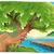rivier · illustratie · voorjaar · zomer · cartoon · landschap - stockfoto © ddraw