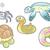bebê · aranha · engraçado · desenho · animado · vetor · isolado - foto stock © ddraw