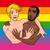 生まれる · 面白い · ゲイ · カップル · ベクトル - ストックフォト © ddraw