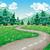 voorjaar · zomer · weg · berg · illustratie · cartoon - stockfoto © ddraw