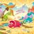 Динозавры · семьи · смешные · Cartoon · воды · пейзаж - Сток-фото © ddraw