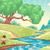 cartoon landscape with stream stock photo © ddraw