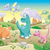 Cute · Динозавры · цветок · кошки · фон · животные - Сток-фото © ddraw