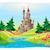 mythological landscape with medieval castle stock photo © ddraw