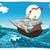 piraat · schip · storm · water · hout · zee - stockfoto © ddraw