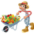 Peasant with wheelbarrow, vegetables and fruits. stock photo © ddraw